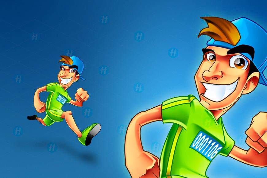 RunTown-Cartoon-design-By-HipMascots