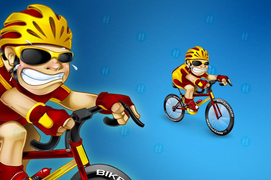 Bike-Poser-Cartoon-Design-by-HipMascots