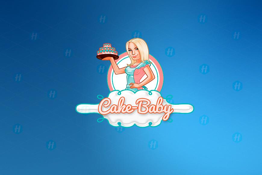 Cake-Baby-Cartoon-Logo-Design-by-HipMascots
