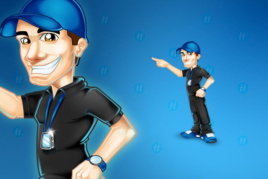 Fysikalen-Coach-Cartoon-Design-by-HipMascots