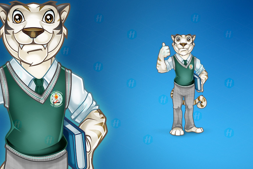 High-school-Bengal-Tiger-Mascot-Design-by-HipMascots
