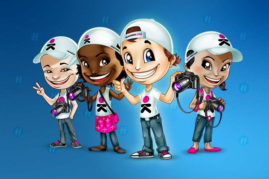 Kachikk-Photohraphers-Cartoon-Designs-by-HipMascots