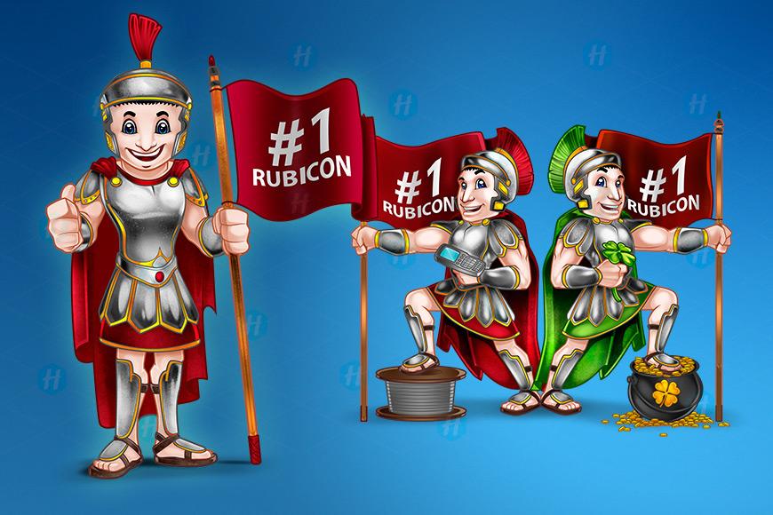 Rubicon-Caesar-Cartoon-Design-by-HipMascots