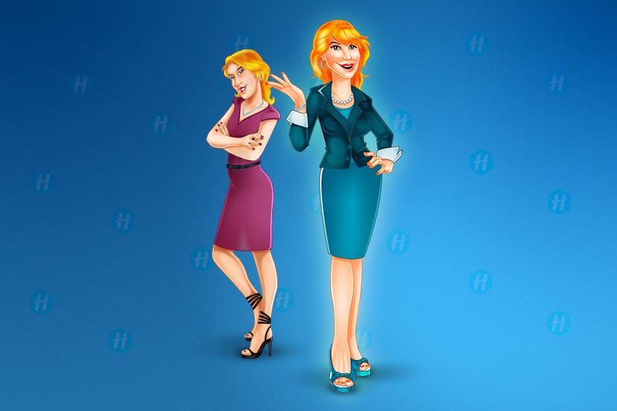 Sandi-Executive-Cartoon-Design-by-HipMascots