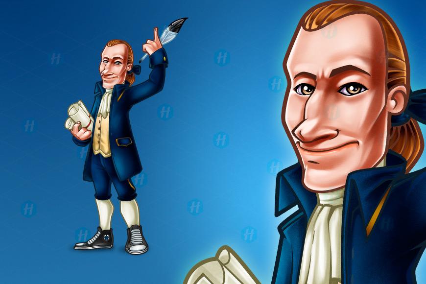 Sarcastic-Thomas-Jefferson-Cartoon-Design-by-HipMascots