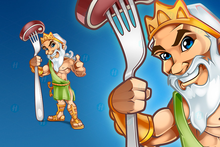 Steak-House-Cartoon-Design-By-HipMascots