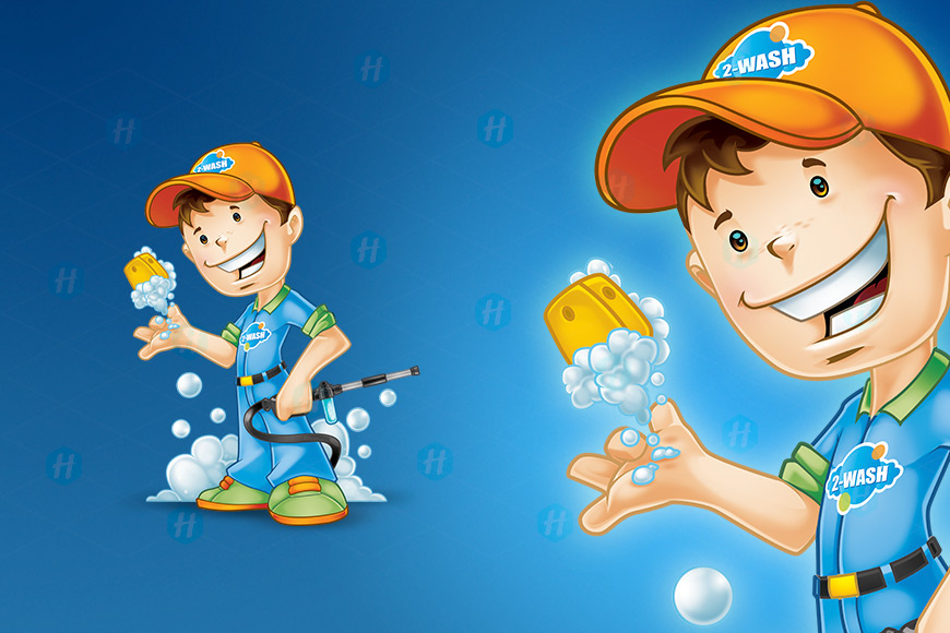 2-Wash-Carwash-Cartoon-Design-by-HipMascots