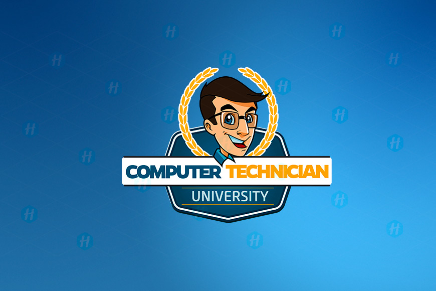 Computer-Technician-University-Cartoon-Logo-Design-by-HipMascots