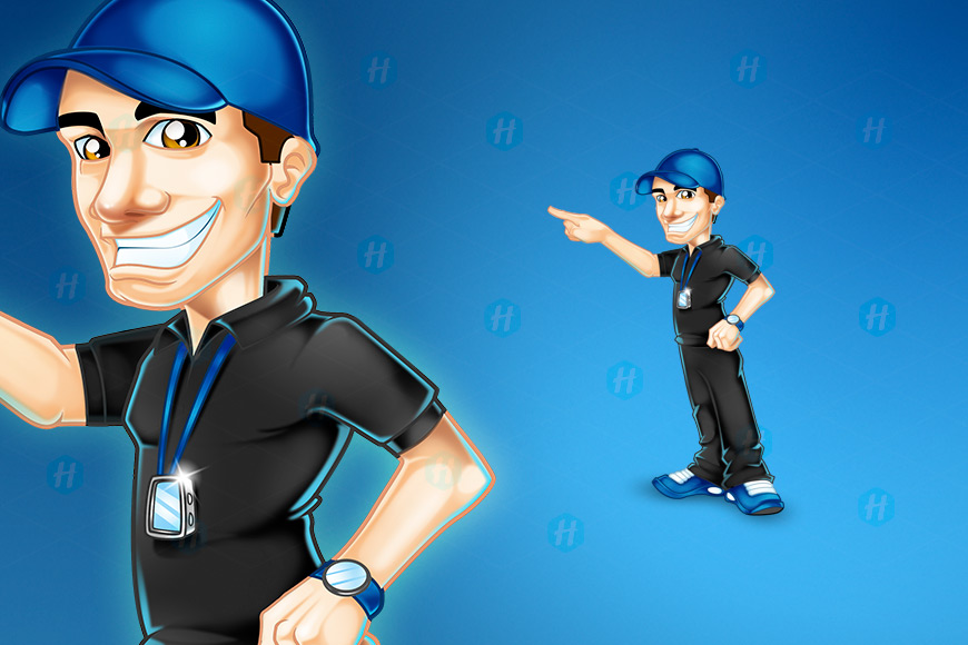 Fysikalen-Coach-Cartoon-Design-by-HipMascots