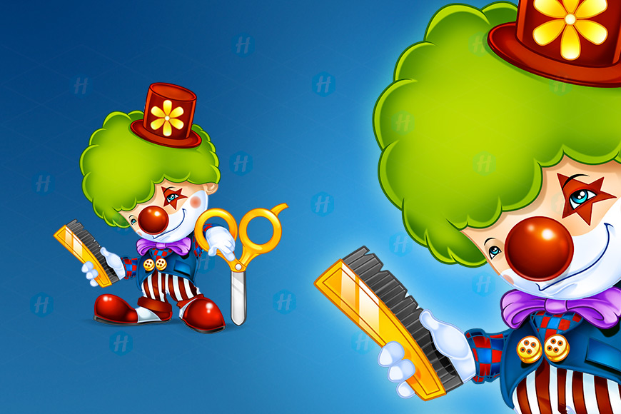 Hairo-Clown-Cartoon-Design-by-HipMascots