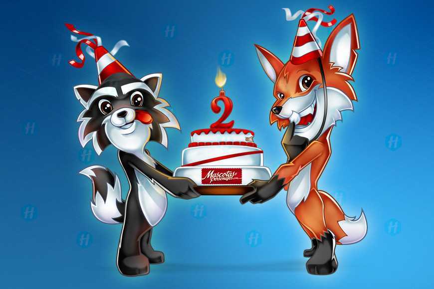 Mascots-and-Characters-Anniversary-Illustration-by-HipMascots