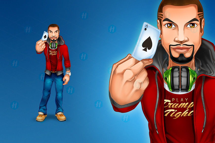 Poker-App-Cartoon-Design-by-HipMascots