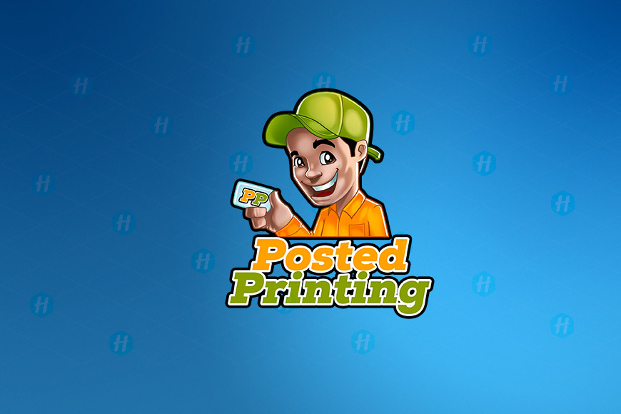 Posted-Printing-Cartoon-Logo-Design-by-HipMascots