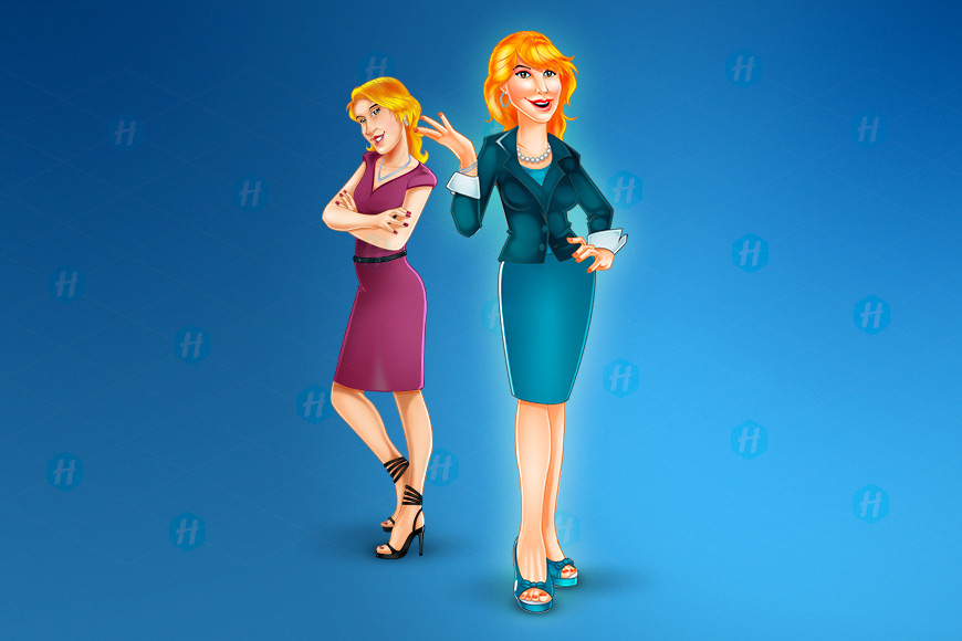Sandi-Executive-Cartoon-Design-by-HipMascots